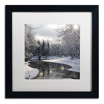 Trademark Fine Art ''Fresh Snowfall on the River'' by Kurt Shaffer 16
