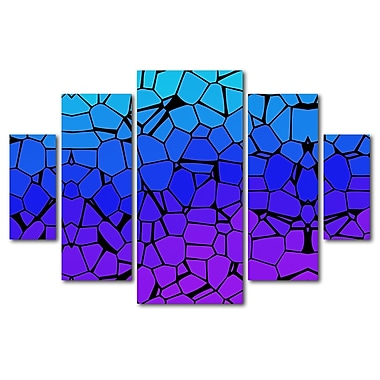 Trademark Fine Art ''Crystals of Blue and Purple'' by Gill 3.3' x 4.8' Multi Panel Art Set (MA0275-P5-SET)