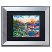 "Trademark Fine Art ''Sunset'' by Manor Shadian 11"" x 14"" Black Matted Silver Frame (MA0397-S1114BMF)"