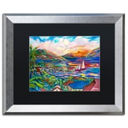 "Trademark Fine Art ''Sunset'' by Manor Shadian 16"" x 20"" Black Matted Silver Frame (MA0397-S1620BMF)"