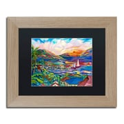 "Trademark Fine Art ''Sunset'' by Manor Shadian 11"" x 14"" Black Matted Wood Frame (MA0397-T1114BMF)"