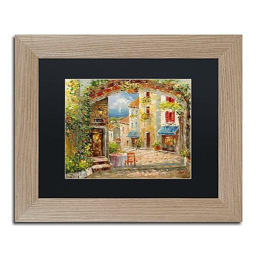 "Trademark Fine Art ''Capri Isle'' by Rio 11"" x 14"" Black Matted Wood Frame (MA0421-T1114BMF)"