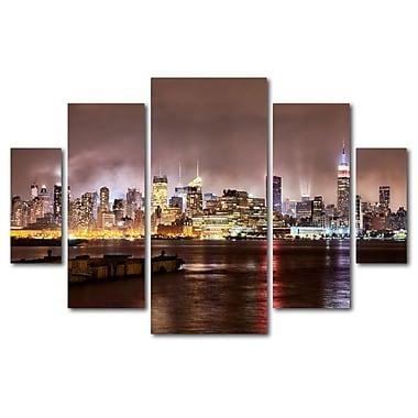 Trademark Fine Art ''Midtown Manhatten Over Hudson River'' by David Ayash 3.3' x 4.8' Multi Panel Art Set (MA0492-P5-SET)