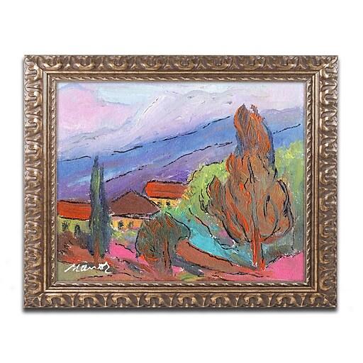 "Trademark Fine Art ''Summer Blush'' by Manor Shadian 11"" x 14"" Ornate Frame (MA0611-G1114F)"
