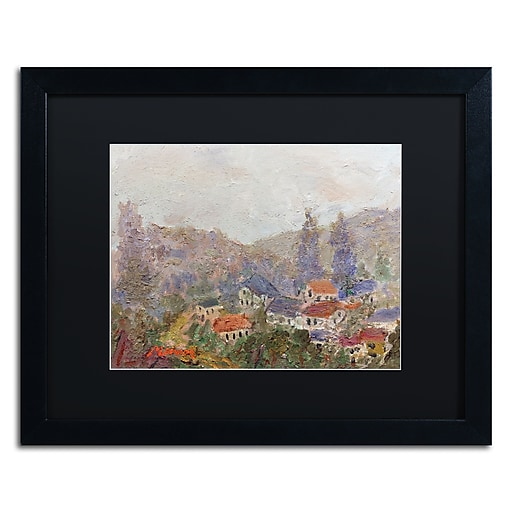 "Trademark Fine Art ''Misty Morning'' by Manor Shadian 16"" x 20"" Black Matted Black Frame (MA0614-B1620BMF)"