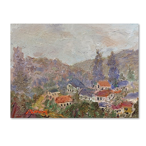 "Trademark Fine Art ''Misty Morning'' by Manor Shadian 24"" x 32"" Canvas Art (MA0614-C2432GG)"