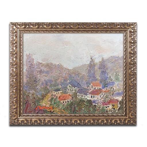 "Trademark Fine Art ''Misty Morning'' by Manor Shadian 16"" x 20"" Ornate Frame (MA0614-G1620F)"