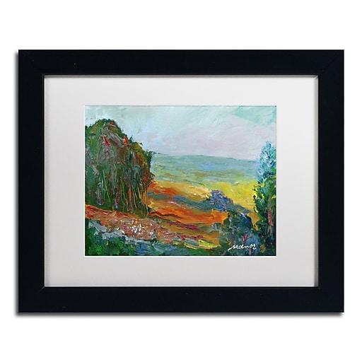 "Trademark Fine Art ''Fall Fields'' by Manor Shadian 11"" x 14"" White Matted Black Frame (MA0617-B1114MF)"