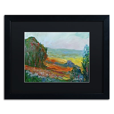 "Trademark Fine Art ''Fall Fields'' by Manor Shadian 16"" x 20"" Black Matted Black Frame (MA0617-B1620BMF)"
