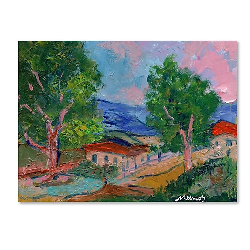 "Trademark Fine Art ''Tree Valley'' by Manor Shadian 35"" x 47"" Canvas Art (MA0618-C3547GG)"