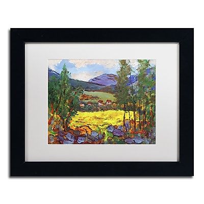 """Trademark Fine Art ''Gilded Glade'' by Manor Shadian 11"""" x 14"""" White Matted Black Frame (MA0619-B1114MF)"""