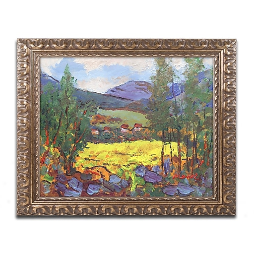"""Trademark Fine Art ''Gilded Glade'' by Manor Shadian 16"""" x 20"""" Ornate Frame (MA0619-G1620F)"""