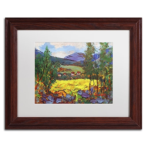 "Trademark Fine Art ''Gilded Glade'' by Manor Shadian 11"" x 14"" White Matted Wood Frame (MA0619-W1114MF)"