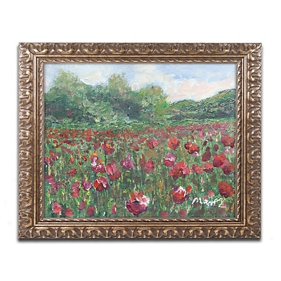 Trademark Fine Art ''Poppy Field Wood'' by Manor Shadian 11