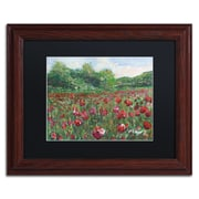 "Trademark Fine Art ''Poppy Field Wood'' by Manor Shadian 11"" x 14"" Black Matted Wood Frame (MA0620-W1114BMF)"