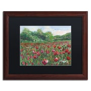 "Trademark Fine Art ''Poppy Field Wood'' by Manor Shadian 16"" x 20"" Black Matted Wood Frame (MA0620-W1620BMF)"