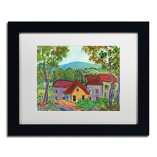 "Trademark Fine Art ''Rainbow Home'' by Manor Shadian 11"" x 14"" White Matted Black Frame (MA0621-B1114MF)"