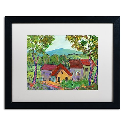 "Trademark Fine Art ''Rainbow Home'' by Manor Shadian 16"" x 20"" White Matted Black Frame (MA0621-B1620MF)"