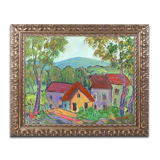 "Trademark Fine Art ''Rainbow Home'' by Manor Shadian 16"" x 20"" Ornate Frame (MA0621-G1620F)"