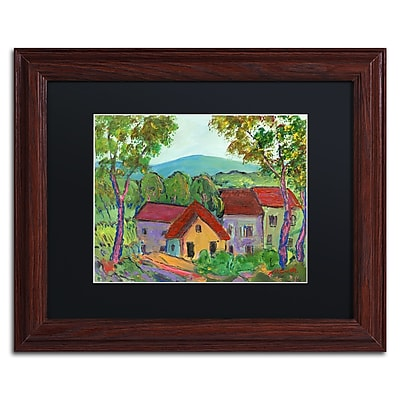 "Trademark Fine Art ''Rainbow Home'' by Manor Shadian 11"" x 14"" Black Matted Wood Frame (MA0621-W1114BMF)"