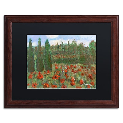 Trademark Fine Art ''Red Poppies in the Wood'' by Manor Shadian 16