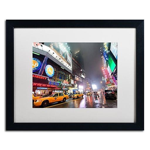 "Trademark Fine Art ''42nd. Street'' by David Ayash 16"" x 20"" White Matted Black Frame (MA0625-B1620MF)"