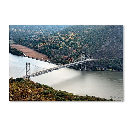 "Trademark Fine Art ''Beer Mountain Bridge'' by David Ayash 16"" x 24"" Canvas Art (MA0627-C1624GG)"