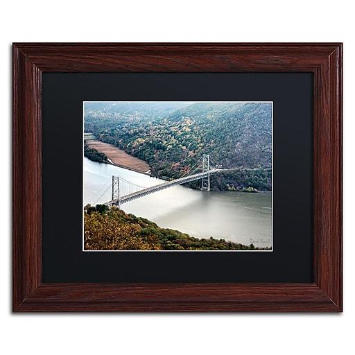 "Trademark Fine Art ''Beer Mountain Bridge'' by David Ayash 11"" x 14"" Black Matted Wood Frame (MA0627-W1114BMF)"