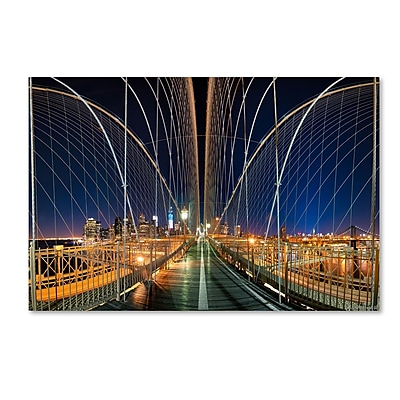 Trademark Fine Art ''Brooklyn Bridge Panorama'' by David Ayash 22