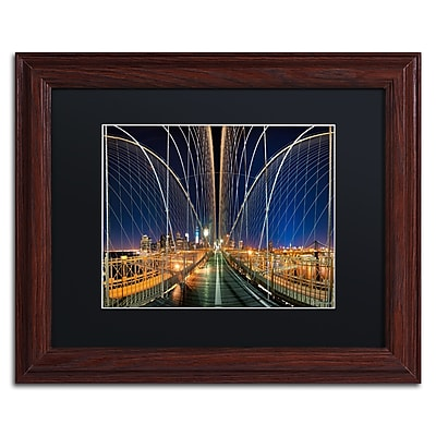 Trademark Fine Art ''Brooklyn Bridge Panorama'' by David Ayash 11