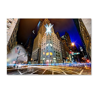 Trademark Fine Art ''Christmas in New York'' by David Ayash 30