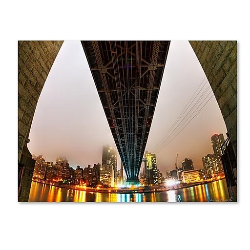 "Trademark Fine Art ''Under the Qeensboro Bridge'' by David Ayash 35"" x 47"" Canvas Art (MA0633-C3547GG)"