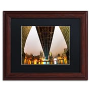 "Trademark Fine Art ''Under the Qeensboro Bridge'' by David Ayash 11"" x 14"" Black Matted Wood Frame (MA0633-W1114BMF)"