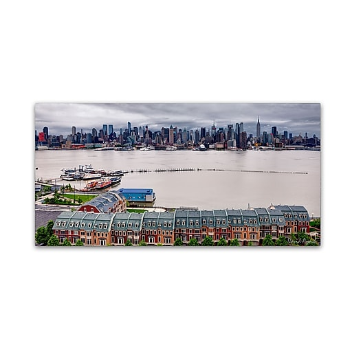 """Trademark Fine Art ''Two Banks of the Hudson'' by David Ayash 12"""" x 24"""" Canvas Art (MA0634-C1224GG)"""