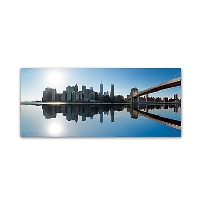 Trademark Fine Art ''Downtown and Brooklyn Bridge'' by David Ayash 20