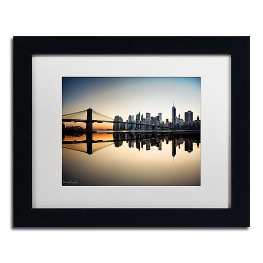 "Trademark Fine Art ''Downtown NY'' by David Ayash 11"" x 14"" White Matted Black Frame (MA0636-B1114MF)"