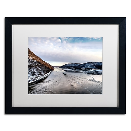 "Trademark Fine Art ''Hudson Valley'' by David Ayash 16"" x 20"" White Matted Black Frame (MA0637-B1620MF)"