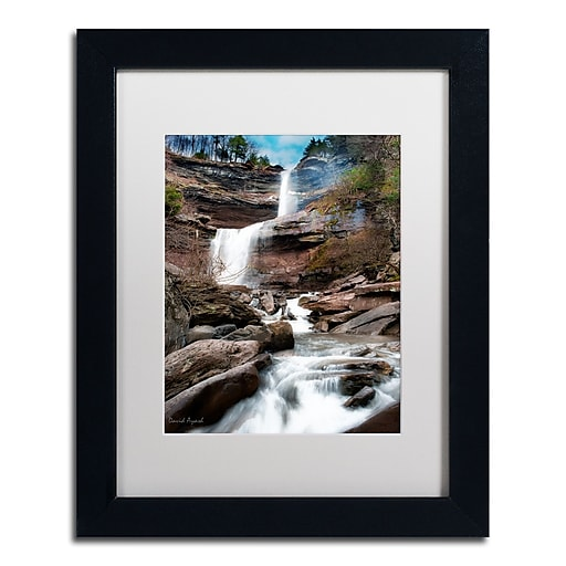 "Trademark Fine Art ''Katerskill Fall'' by David Ayash 11"" x 14"" White Matted Black Frame (MA0638-B1114MF)"