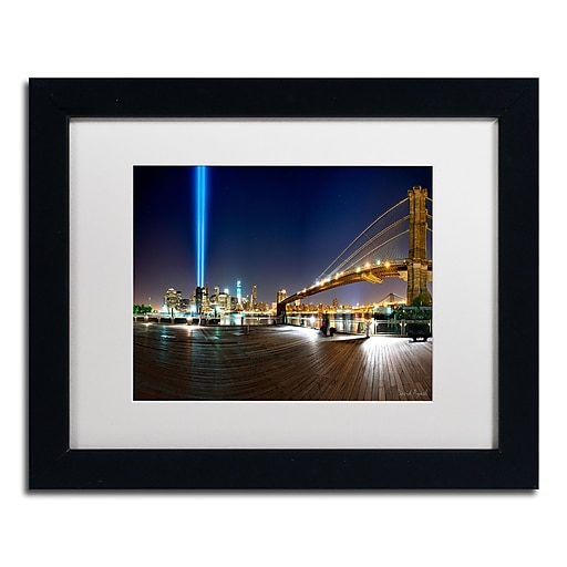 """Trademark Fine Art ''Never Forget'' by David Ayash 11"""" x 14"""" White Matted Black Frame (MA0639-B1114MF)"""