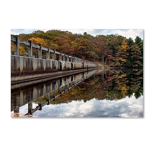 "Trademark Fine Art ''New York in Fall'' by David Ayash 22"" x 32"" Canvas Art (MA0644-C2232GG)"