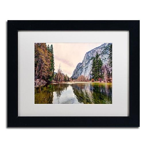 "Trademark Fine Art ''Yosemite Valley'' by David Ayash 11"" x 14"" White Matted Black Frame (MA0645-B1114MF)"