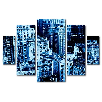 Trademark Fine Art ''Upper West Side'' by Miguel Paredes 3.3' x 4.8' Multi Panel Art Set (MP0017-P5-SET)