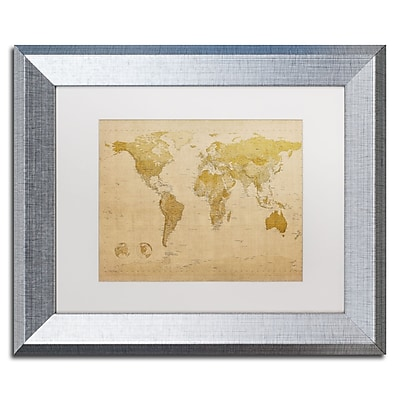 Trademark Fine Art ''Antique World Map'' by Michael Tompsett 11