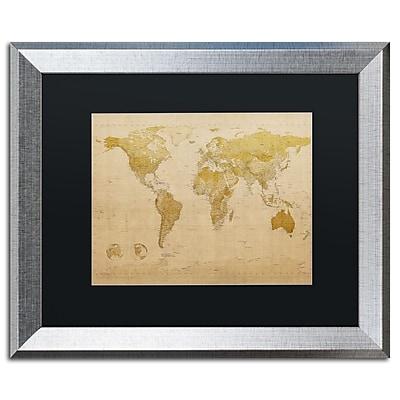Trademark Fine Art ''Antique World Map'' by Michael Tompsett 16