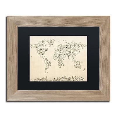 Trademark Fine Art ''Music Note World Map'' by Michael Tompsett 11
