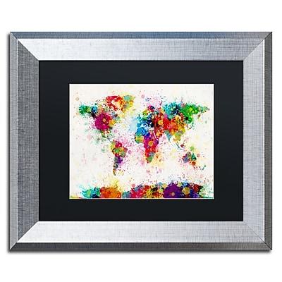 Trademark Fine Art ''Paint Splashes World Map'' by Michael Tompsett 11