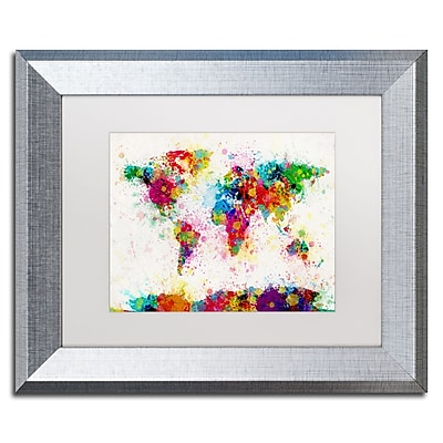 Trademark Fine Art ''Paint Splashes World Map'' by Michael Tompsett 11