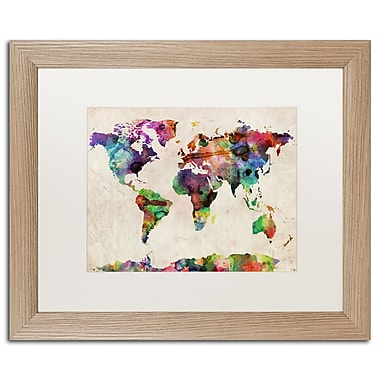 Trademark Fine Art ''Urban Watercolor World Map'' by Michael Tompsett 16