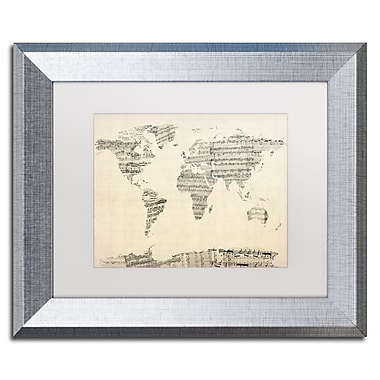 Trademark Fine Art ''Old Sheet Music World Map'' by Michael Tompsett 11