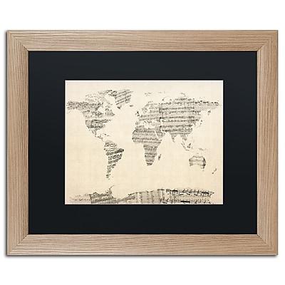 Trademark Fine Art ''Old Sheet Music World Map'' by Michael Tompsett 16